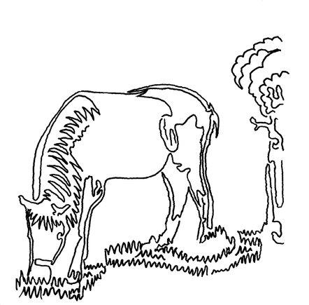 cheval en ligne-unique