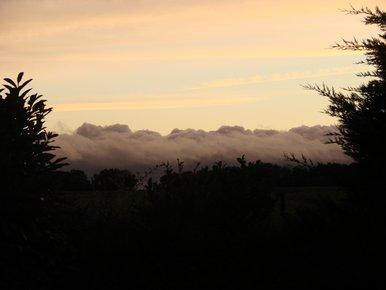 nuages sur couchant